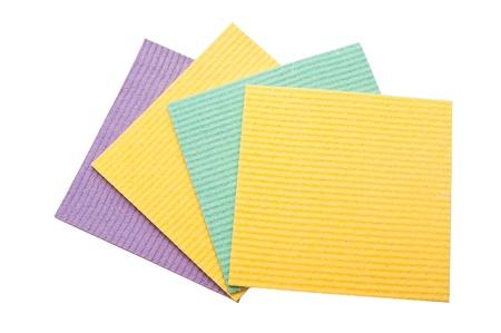 orange washcloth: washcloth