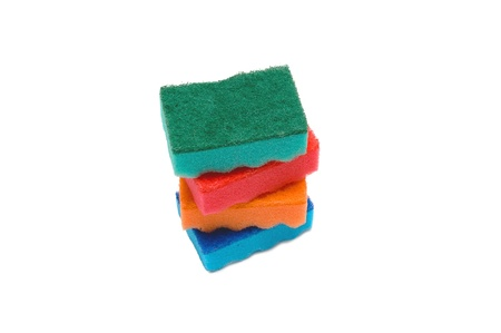 A stack of sponges photo
