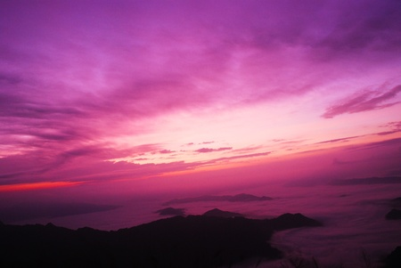 The sky is violet. photo