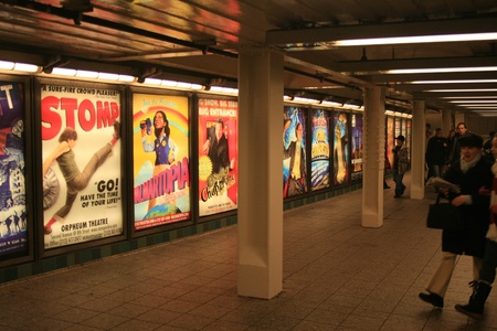 times square: Times Square subway station, New York, New York.