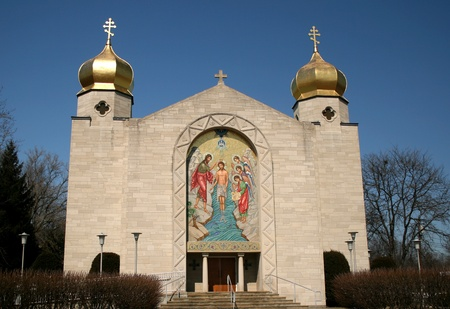 The exterior of a Typical Eastern Orthodox church.