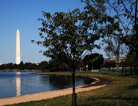A view of the landmark Washington Monument in Washington, DC. Editorial