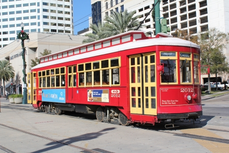 Canal Street trolley, New Orleans, Louisiana