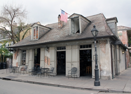 A building said to be the blacksmith shop of notorious pirate Jean Lafitte