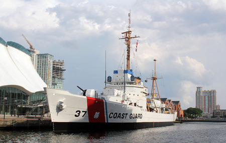 afloat: This is the U.S. Coast Guard cutter Taney, one of four historic ships on display at Baltimore, Marylands Inner Harbor.  This ship is the last surviving ship from the Japanese attack on Pearl Harbor on  December 7, 1941 still afloat.