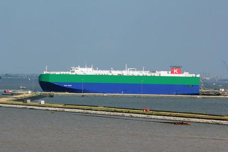 The cargo ship MV Ivory Arrow in port in Baltimore, Maryland, USA. Redakční