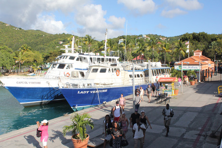 st john: The ferry terminal on the Caribbean island of St. John, US Virgin Islands. Editorial