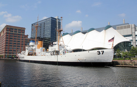 u s: The U. S. Coast Guard Cutter Taney, the last remaining ship afloat from the Japanese attack on Pearl Harbor, Hawaii on December 7, 1941.  The Taney in on display and is opened for visitors to tour at the inner harbor of Baltimore, Maryland USA.