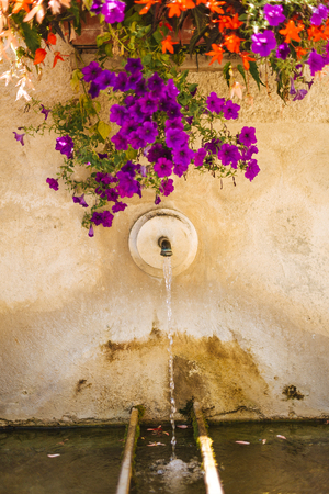 Village Provence - water fountain Stock Photo