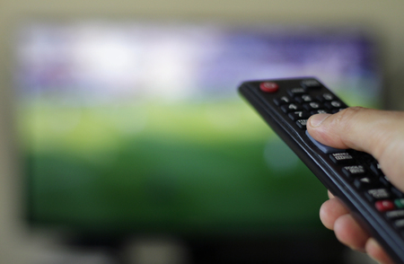 Binge watching TV show Standard-Bild