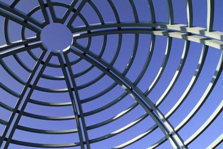 Metal circles forming a dome - Tel Aviv, Israel Banco de Imagens