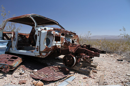 Abandoned car in Death Valley, California
