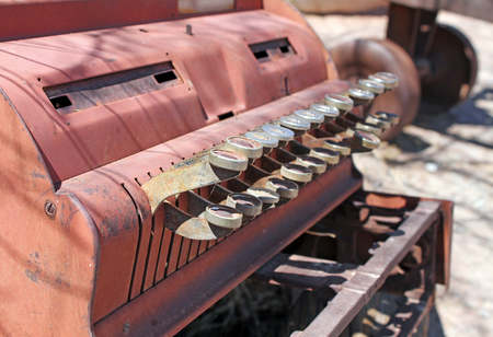 Old cashier machine in a ghost town in Death Valley, California