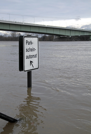 Flooding in Cologne, Germany, 2018 Stock Photo