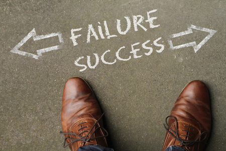 Finding the way: Failure or Success? Stock Photo