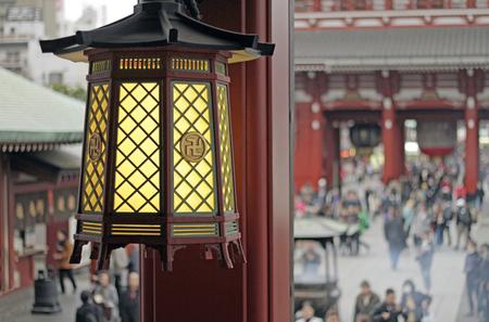 Detail of lantern in Japanese temple