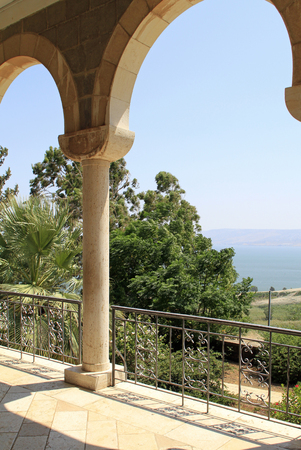 Beautiful view from the Mount of Beatitudes, Israel - said to be the actual location of the Sermon on the Mount