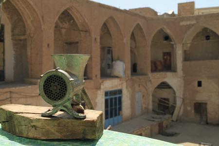 View over a former caravansary in the bazaar of Kashan, Iran