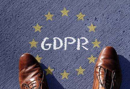 EU flag with the acronym GDPR (General Data Protection Regulation) written on it