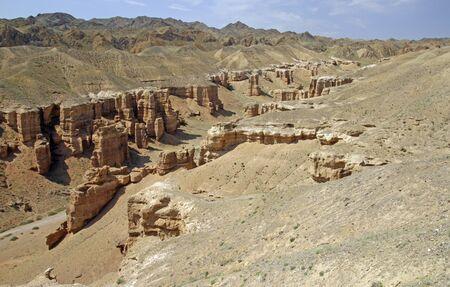 The spectacular sight of Charyn Canyon, Kazakhstan