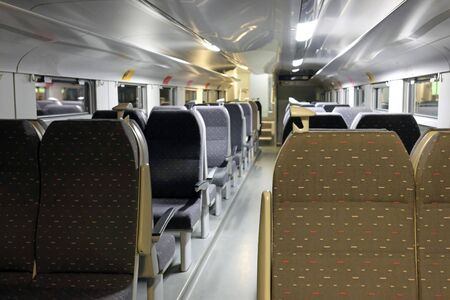 Empty train cabin in Brussels, Belgium Stock fotó
