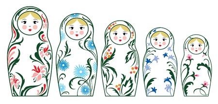 matryoshka doll: russian dolls Illustration