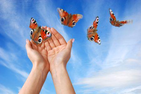 hand movement: liberty Stock Photo