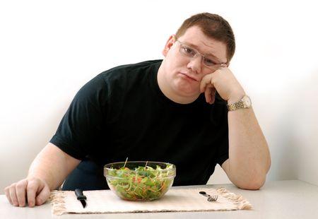 sad man: dieta