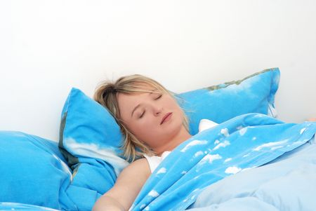 young woman sleeping Stock Photo - 2458019