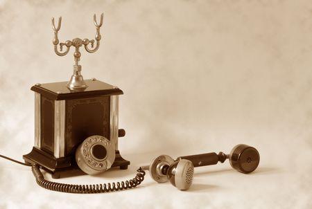 retro telephone: retro telephone Stock Photo