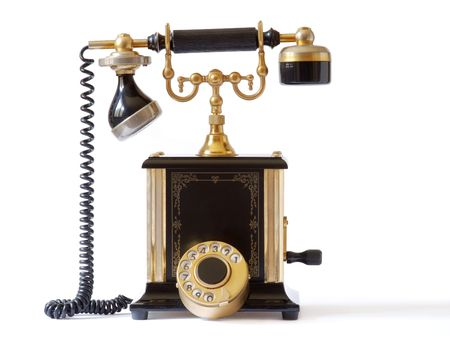old fashioned: old fashioned telephone