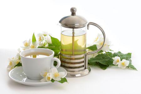 still life with jasmine tea