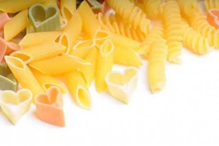 mix of macaroni Stock Photo