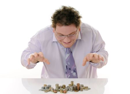 businessman with money photo