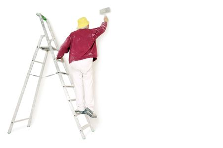 painting wall: pintor Foto de archivo