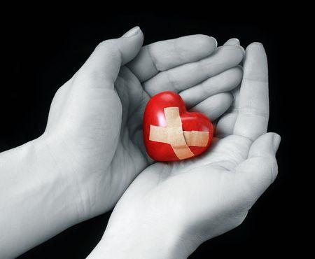 curitas: coraz�n roto Foto de archivo