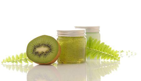 green cosmetics Stock Photo