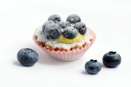 bilberry: dessert with bilberry