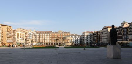 famous square of Pamplona, Spain