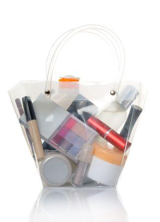 vanity bag: cosmetics Stock Photo