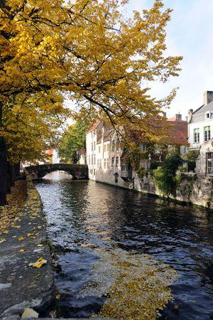 autumn in Bruges Stock Photo