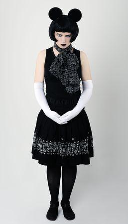 marginal: marginal woman in fancy dress Stock Photo