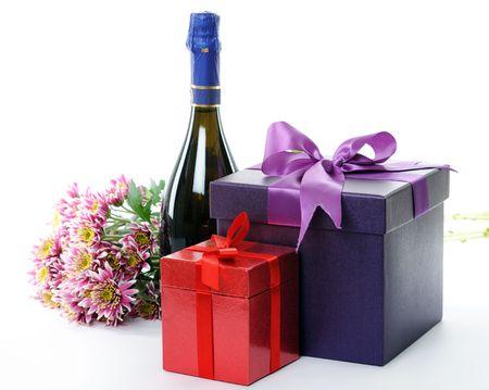 flower box: presents Stock Photo