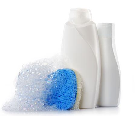 soap sud: bath accessories Stock Photo