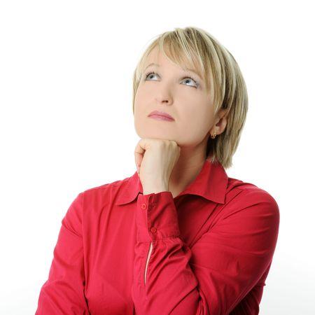 donna pensiero: donna pensando