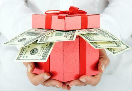 money box: dollars Stock Photo