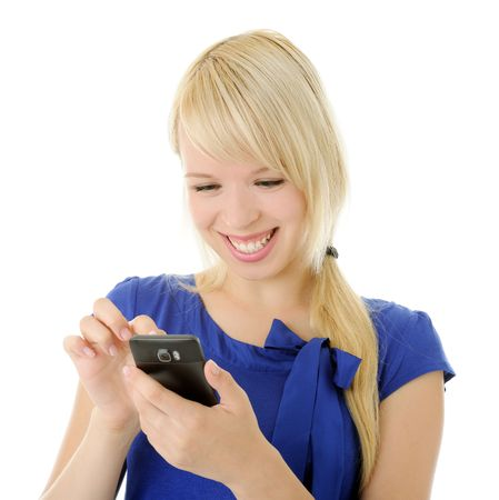 girl with smart phone