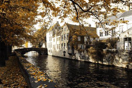 belgium: Bruges, Belgium in autumn time