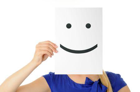 smiley face: smiling face Stock Photo