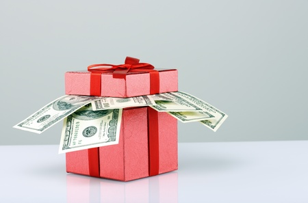 money box: present